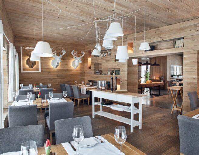 aranżacja wnętrza restauracji Tłusta kaczka