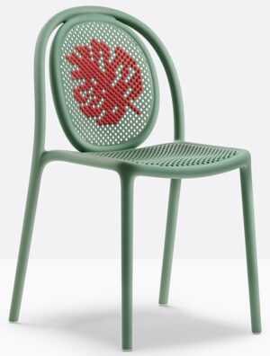 Krzesła z tworzywa sztucznego i metalu